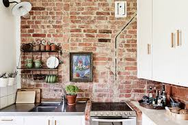 excellent kitchen wall decor ideas on wall bricks with a flower