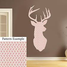vintage shabby chic stag head colour wall art sticker floral rose vintage shabby chic stag head colour wall art sticker floral rose flower 43cm x 21cm by kult kanvas
