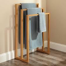 cinthea bamboo towel rack bathroom