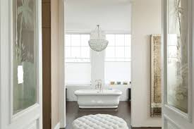 Chandelier Above Bathtub 20 Gorgeous Bespoke Bathroom Designs With Chandeliers