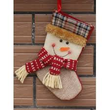 tree hanging decoration snowman present sock