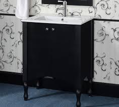 in series 24 inch transitional single sink bathroom vanity black