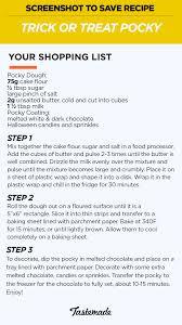 trick or treat pocky recipe tastemade