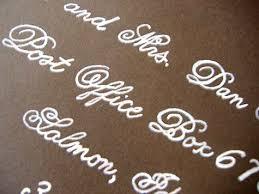 handwritten wedding invitations diy wedding idea faux fancy handwriting design sponge