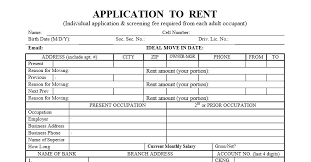 los angeles rental standard los angeles application to rent the rental