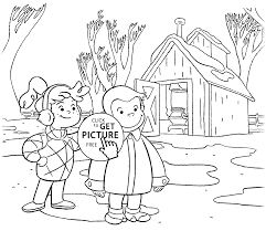 curious george coloring page download coloring pages curious