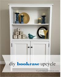 Diy Bookcase Door How To Build A Leaning Door Shelf Without A Door Free Diy Plan