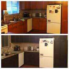 Stain Oak Kitchen Cabinets Kitchen Transformation We Stained Our Honey Oak Cabinets A Dark