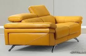 yellow leather sofa modern u2013 permisbateau