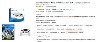 ps4 slim black friday bundle amazon ps4 slim white with horizon zero dawn extra controller free