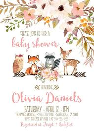 woodland baby shower invitations woodland baby shower invitation girl deer baby shower invites