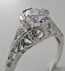 purchase feminine art deco solitaire filigree engagement ring setting