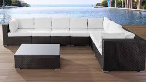 beliani rattan garden furniture set lounge with cushions poly