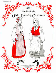 women u0027s nordic style olde country costumes jumper blouse apron