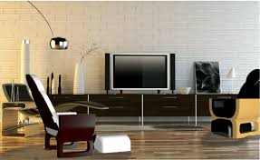 awesome white grey dark brown wood cool design furniture tv wall