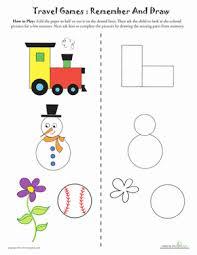 picture memory games kindergarten memory worksheets education com
