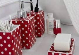 red polka dot bathroom accessories thedancingparent com