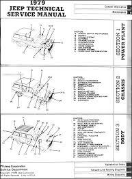 1979 jeep repair shop manual original all models