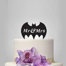 batman wedding topper mr and mrs wedding cake topper with batman silhouette cake