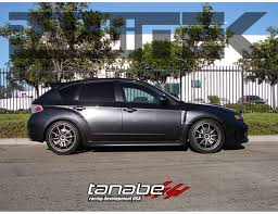 super lowered cars tanabe df210 sustec super low springs sti hatch 2008 2014