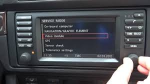 bmw 5 series e39 16 9 screen mk3 how to access the navigation