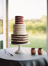 red velvet vanilla and chocolate cake wedding cake