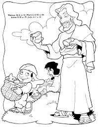 jesus feeds 5000 coloring page free download