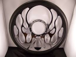 nissan 350z bolt pattern billet flame steering wheel with black changeable grip has a 9