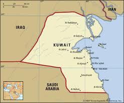 kuwait on a map capital of kuwait map
