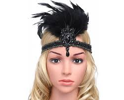 great gatsby hair accessories online store babeyond 1920s flapper headpiece 20s carnival feather