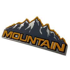 mountain jeep logo 2pcs aluminum mountain decals for jeep wrangler emblem badge