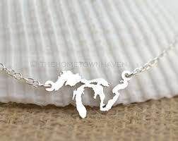 great necklace great lakes necklace etsy