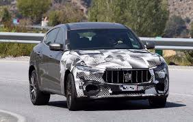 maserati 2018 spyshots 2018 maserati levante gts with v8 power tests against