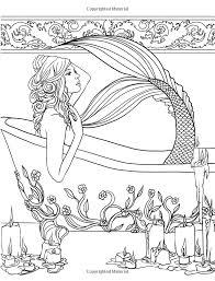 mermaids calm ocean coloring collection selina fenech