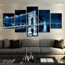 aliexpress com buy 2017 sale modern bridge nightscape wall
