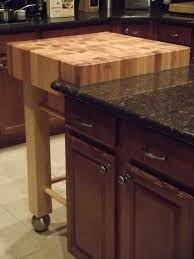 butcher block kitchen island countertop in kitchen butcher block