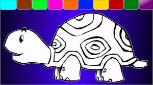 cute tortoise painting coloring pages youtube