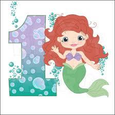 little mermaid birthday clipart kid 3 clipartix