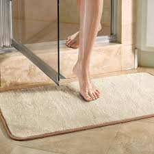 Microfiber Bathroom Rugs Violet Linen Microfiber Absorbing Bath Mat Bathroom Rug Reviews