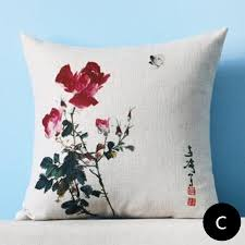 decorative pillows home goods chinese style flower pillow for sofa linen home goods throw pillows