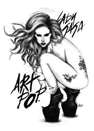 free coloring page antistress for anime lady gaga coloring
