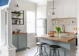light grey kitchen cabinets with wood countertops 27 trendy two toned kitchen designs you ll like digsdigs