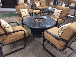 Fire Pit Tables And Chairs Sets - charleston 5 piece fire pit set by cabana cove macksood u0027s