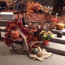 autumn display my put together on our alter at church
