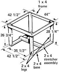 Build Outside Wooden Table by How To Build An Umbrella Table How To Build An Umbrella Table