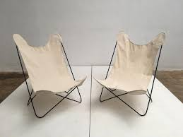 Canvas Sling Back Chairs by Butterfly Chairs With Canvas Seats By Jorge Ferrari Hardoy 1960s