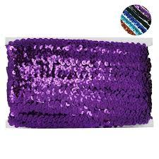 sequin ribbon regalia 3 4 sequin ribbon craft dress purple 10 yard efavormart