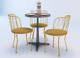 Table And Chairs Set 3d Bistro Table And Chair Set Cgtrader