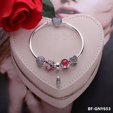 bracelet with charms images Pandora charm bracelet with 5 pcs charms JPG