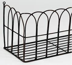 Wrought Iron Wall Planters by Pansy Potter Arch Effect Wrought Iron Wall Mounted Planter